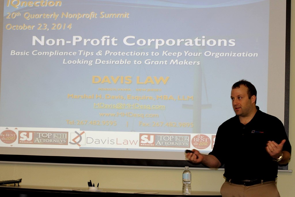 IQnection 20th Quarterly Nonprofit Summit - Marshal Davis