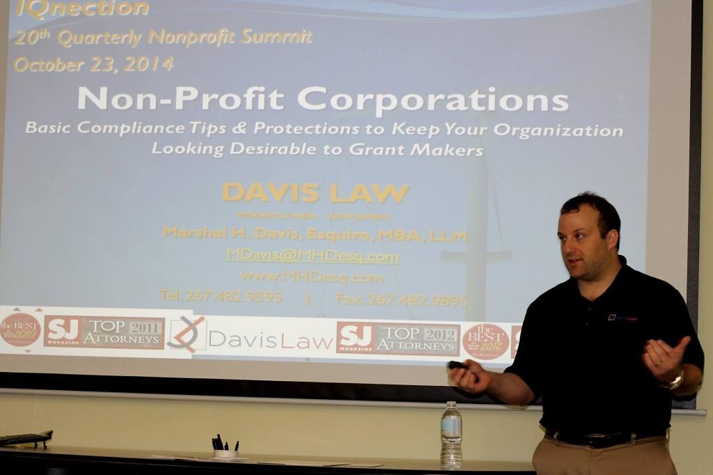 IQnection 20th Quarterly Nonprofit Summit - Marshal Davis